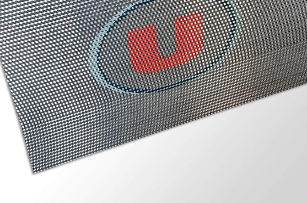 Bannière tapis alu logo