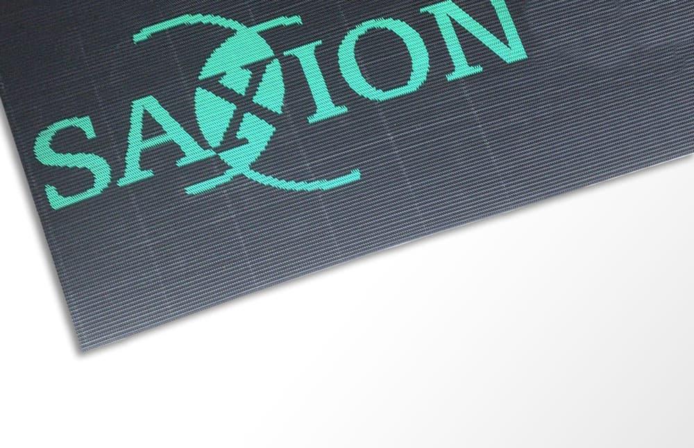 Bannière tapis logo brosse fond blanc